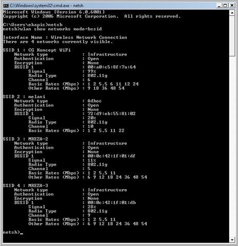Vista NetStumbler Alternative Tool