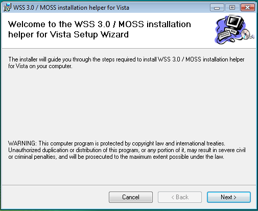 WSS/MOSS Running on Vista