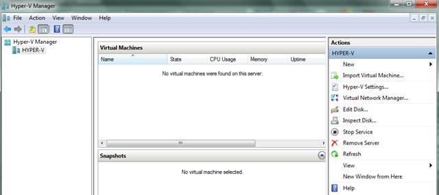 Setting Up Hyper-V Server 2008 R2 in Workgroup