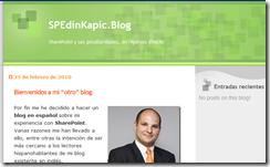 My New Blog in Spanish: SPEdinKapic.Blog