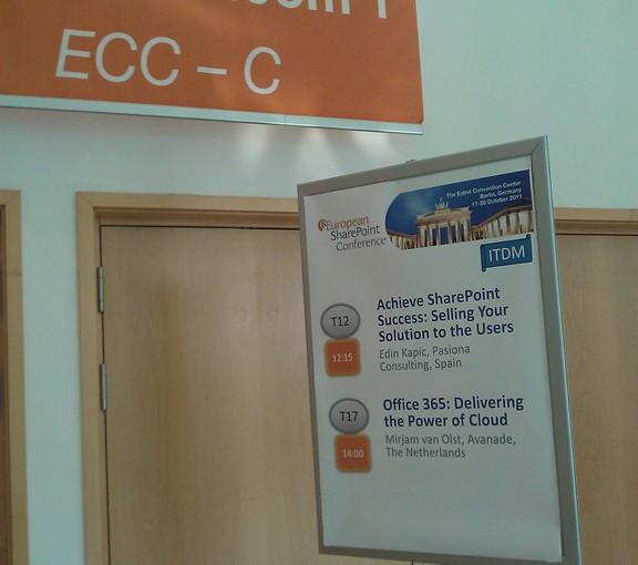 Conferencia europea de SharePoint: Primer día