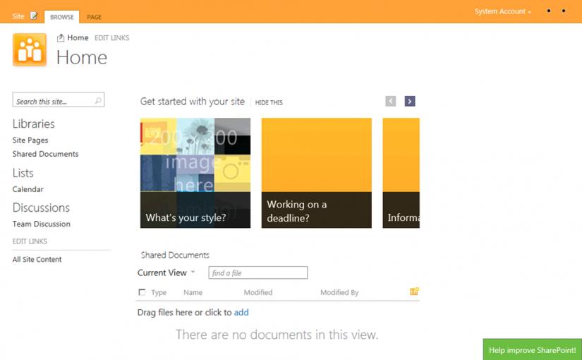 "Primer ""pantallazo"" de SharePoint 15 Beta"