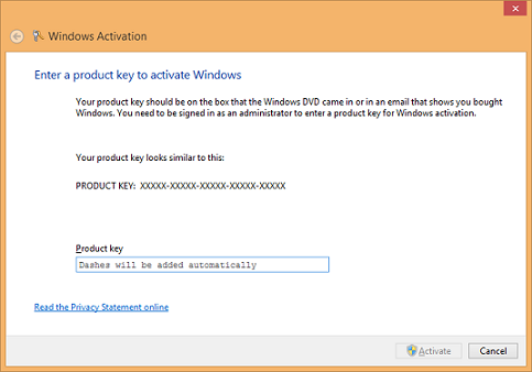 Activate Windows 8 Enterprise License without Volume Activation