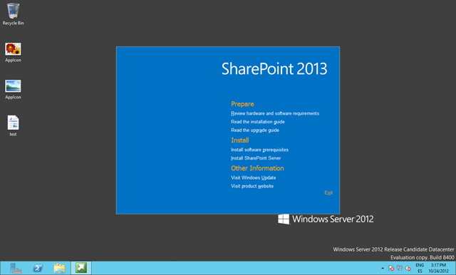 Instalando la RTM de SharePoint 2013