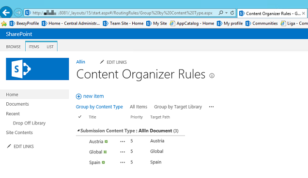 Configuring Content Organizer Rules with PowerShell