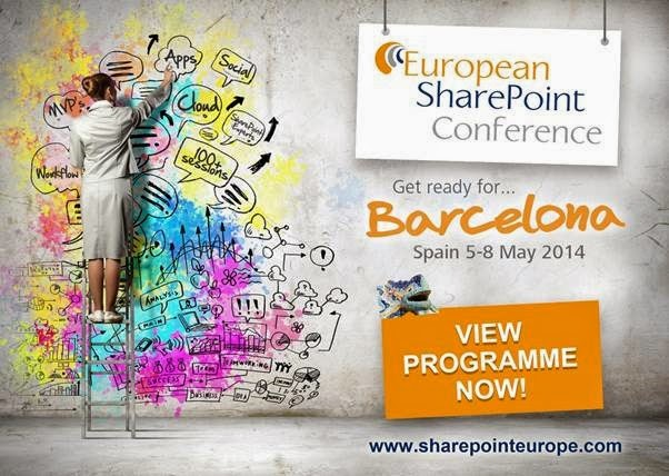 Speaking at the European SharePoint Conference in a Week