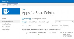 A custom app inside app catalog under Apps for SharePoint