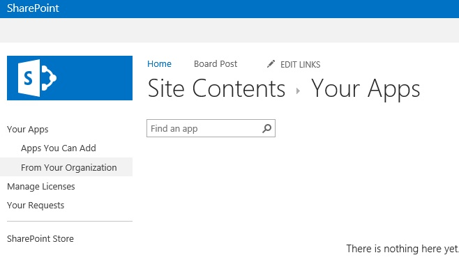 SharePoint App Catalog And Missing Apps