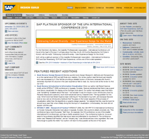 SAP Design Guild Intranet 2007