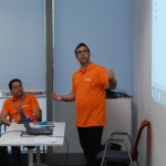 Adrián y Marco Canales en el taller de ALM