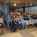 El auditorio lleno para los sorteos
